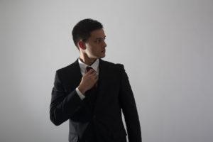 ビジネスマンの写真撮影